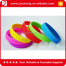 Hot selling silicone rubber custom shape silicone bracelets for festival