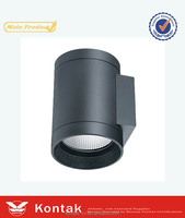 4500k up down round led outdoor wall light recessed