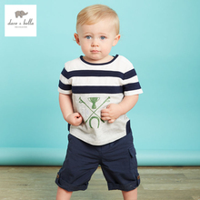 DB3043 dave bella summer baby boy sailor colorful striped t-shirt soft cotton tee boys high quality tops kids t shirt