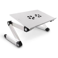 Hot Selling Laptop Table with USB Fan Folding Adjustable Notebook Holder