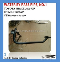 #000675 toyota hiace body part KDH 200 water radiator pipe NO.1 16268-75130 by pass pipe hiace 2005-2009 factory made