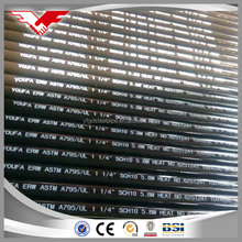 Red or black painting steel tube ASTM A795 UL standard for fire system