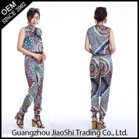 Latest design cheap fashion OEM supply one piece ladies jumpsuit