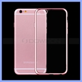 Ultra-thin Transparent Electroplating Soft TPU Case for iPhone 6 6S Crystal Cover Case