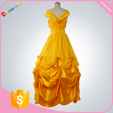 female film characters fancy dress ideas And The beast Adult Princess Belle Costume with petticoat