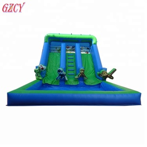 Giant Inflatable Beach Slide, Inflatable Waterslide, Inflatable Wet Slide