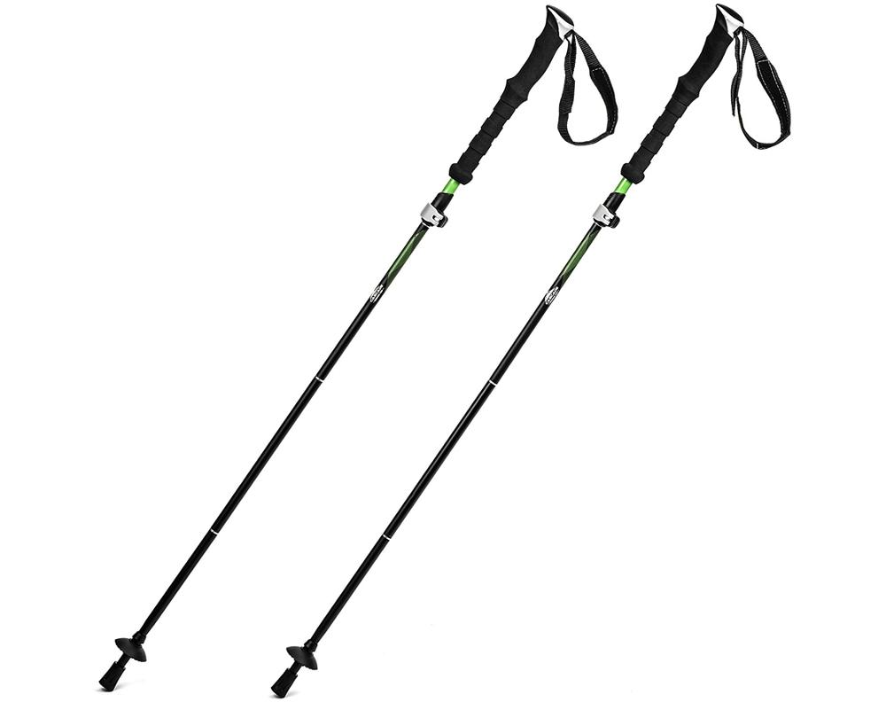 7075 Aluminum 5 Sections Folding Collapsible Adjustable Ultralight Walking Trekking Hiking Poles Sticks