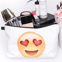Taobao New Arrived 3D Print Canvas Plain Makeup Bag