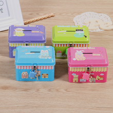 OEM accepted small cute rectangular jewellery metal tin packaging boxes with hinge for cosmetics