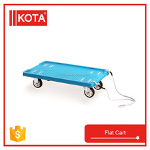 Industrial Platform Handling Trolley Four Wheels Hand Flat Push Cart