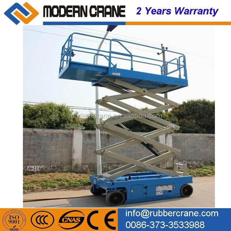 Battery powered self propelled scissor lift,hydraulic lifter