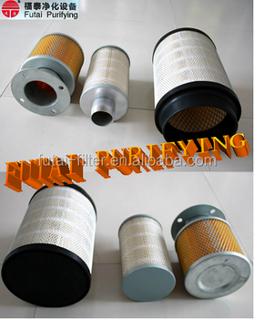 Air cartridge filter for spray powder