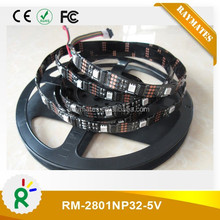 5050smd 5v ws2801 magic digital dream color rgb led strip black/white PCB