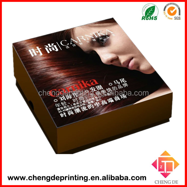Factory custom hair packaging bag , tags and hair extension packaging box