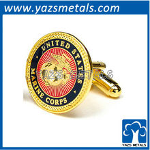 Marine corps cufflinks, customize high quality metal crafts