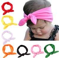 Manufacturers wholesale spandex Baby rabbit ears headband