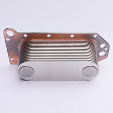 Original Cummins QSL9 oil cooler core 3966365