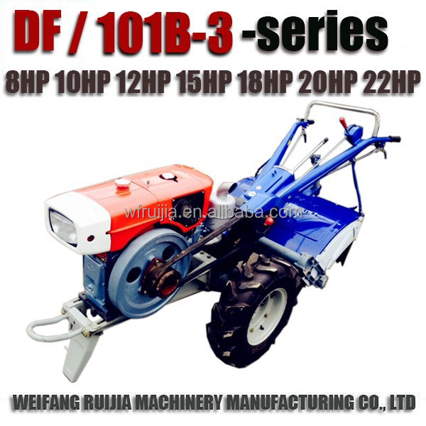 Hot sale diesel engine 8-22HP power tiller with gearbox transmission for sale! Good quality walking tractors with attachments !