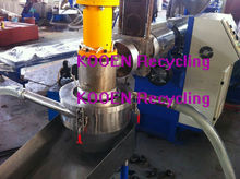 advanced technology double stage recycle plastic granulation line