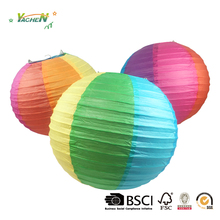 Party colorful printing paper lantern