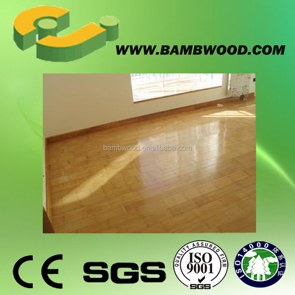 Vertical carbonized high gloss bamboo flooring