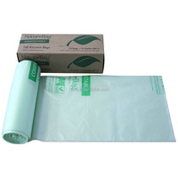 Eco-friendly 100% Biodegradable Green Compostable Pet Dog Waste Poop Roll Bags