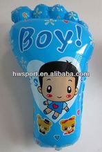 Big feet mylar balloon custom aluminium foil balloon