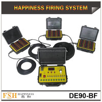 Waterproof transmitter and receivers/90 cues fireworks firing system/sequential happiness firing system (DE90-B)
