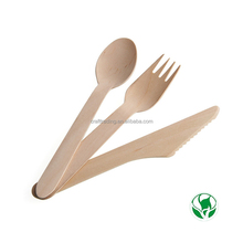 Wooden spoons bulk cheap disposable tableware/cutlery set