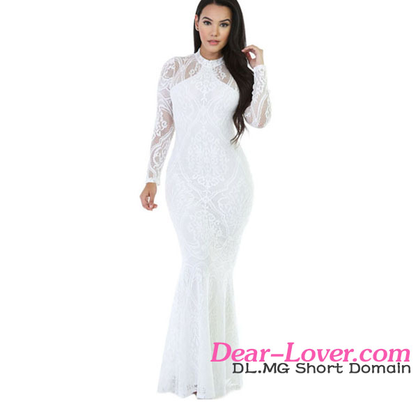 China Wholesale White Knit Floral Mermaid Sexy Indian Cheap Prom Dresses