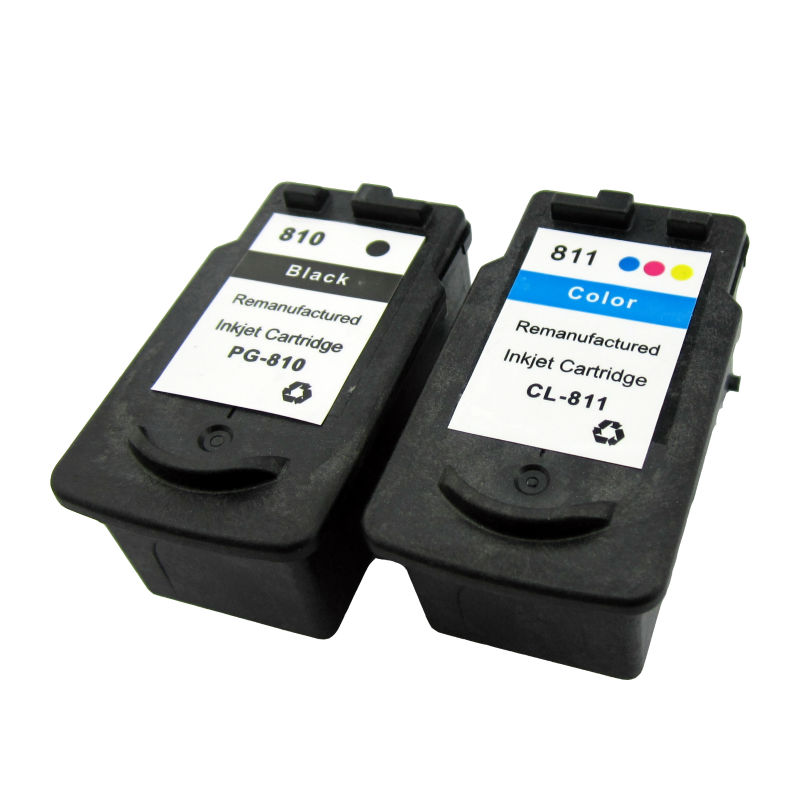 Quality and quantity assured reset ink level 810 811 ink cartridge for canon pixma ip2770