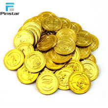 2018 Cheap Eco-friendly challenge Custom Plastic Token Game Gold Coin