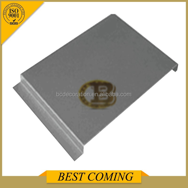Outdoor using PVDF painting aluminum D shaped ceiling panels