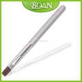 BQAN 2016 New Design Sliver color Nail Gel Brush Flat Hair, Wooden Handle Nail Brush