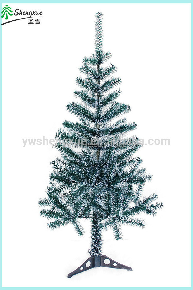 White Snowing Flocked Christmas Tree Decoration Artificial