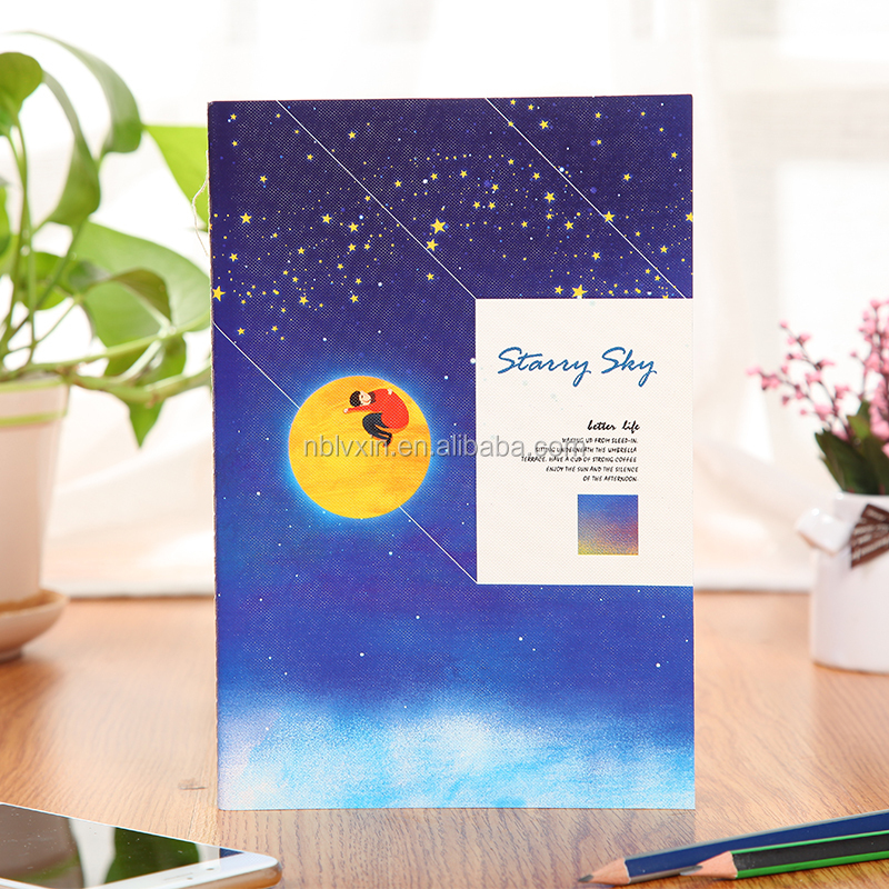 2017 Promotional Gift Blue Sky Printing Custom Note Book