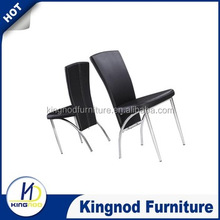 Australia metal dining room chairs/luxury high back pu leather dining chairs/white/black dining chairs