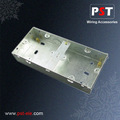 1+1 Gang 35mm Deep Galvanized Metal Electrical Box