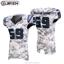 2018 Cheap camo football uniforms design custom sublimation youth american football jerseys