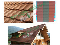 Happiness brand natural color sand stone coated metal roofing tile / Chinese clay roof tile / Metal roofing tile