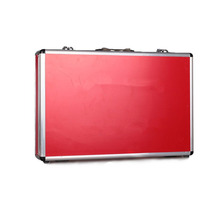 Durable red metal briefcase aluminium tool storage box