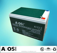 Good Quality AGM Storage VRLA Battery Electric Scooter Battery 12V 12Ah