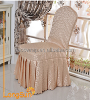 Top Grade Luxury Wholesale Polyester Color Wedding Chair Cover for Banquet