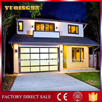 YQGD0012 Sectional glass garage door, lover door