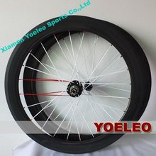 Quality bicycle carbon clincher track wheelset 700c 60mm