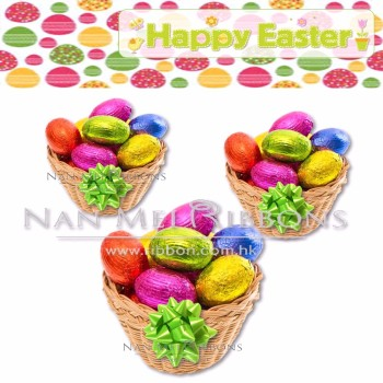 Easter Gift Set Wrapping Decoration Idea Mini Plastic PP Ribbon Star Bow for Easter Chocolate Egg Rabbit Basket