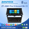 touch screen car dvd player for honda accord 2008 2009 2010 2011 2012 support BT Phone DTV DVR SWC