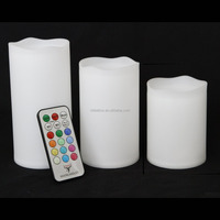 flameless led wax candles with remote control set of 3 color changing led candles with timer real wax led candles l