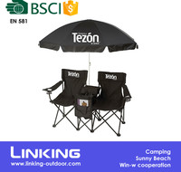 Portable Lightweight Outdoor Metal Outdoor Folding Chair With Cooler Bag