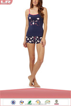 Fashion Popular Navy Sheep Vest and Briefs Pajama Set 2 Pcs for Women/Sexy Lounge Wear